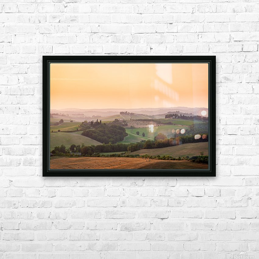 Tuscany Sunset HD Sublimation Metal print with Decorating Float Frame (BOX)