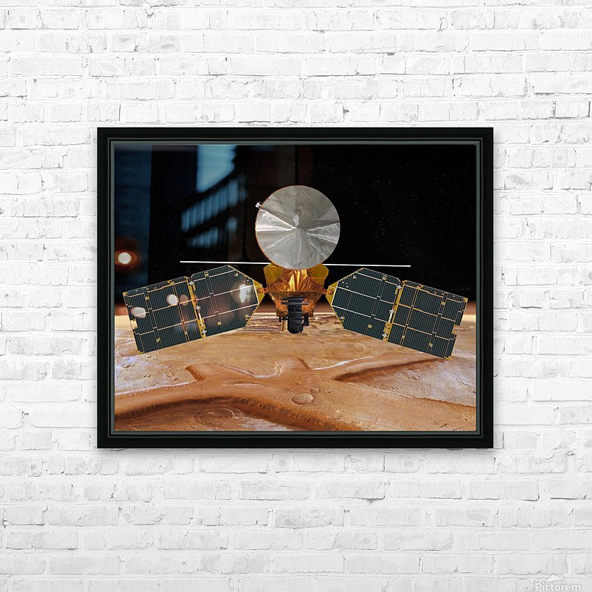 Artists concept of the Mars Reconnaissance Orbiter. HD Sublimation Metal print with Decorating Float Frame (BOX)