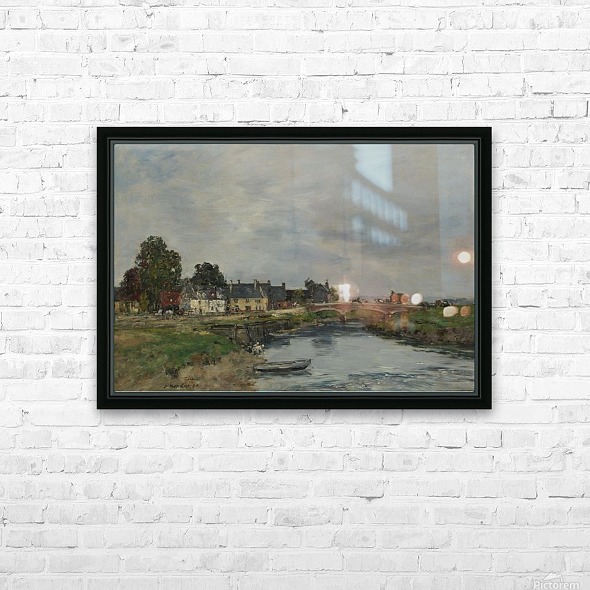 Trouville, View of Port's Landing Stage HD Sublimation Metal print with Decorating Float Frame (BOX)