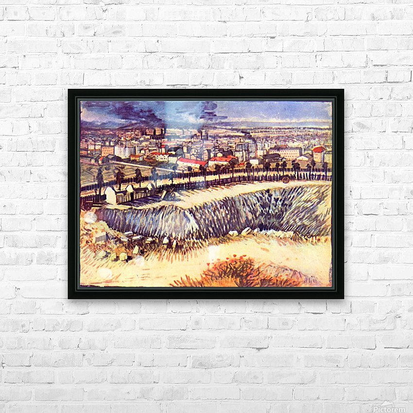 Factory by Van Gogh HD Sublimation Metal print with Decorating Float Frame (BOX)