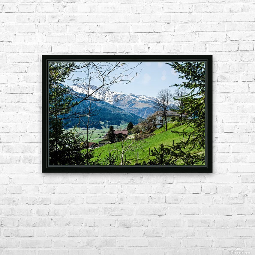 In The Alps HD Sublimation Metal print with Decorating Float Frame (BOX)