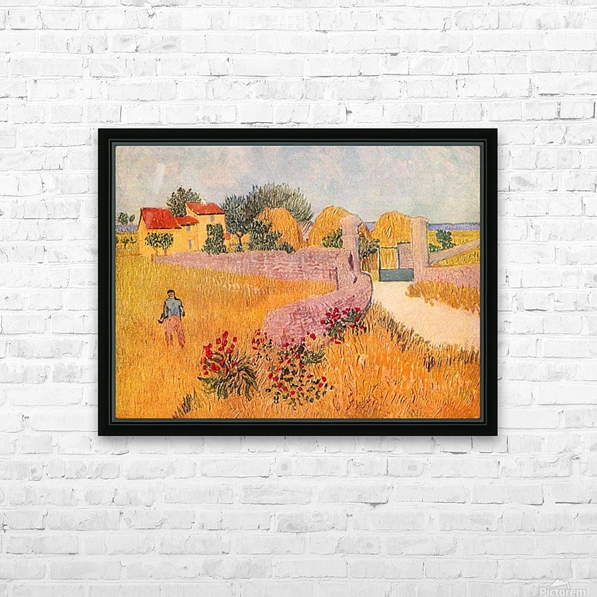 Farmhouse in Provence by Van Gogh HD Sublimation Metal print with Decorating Float Frame (BOX)