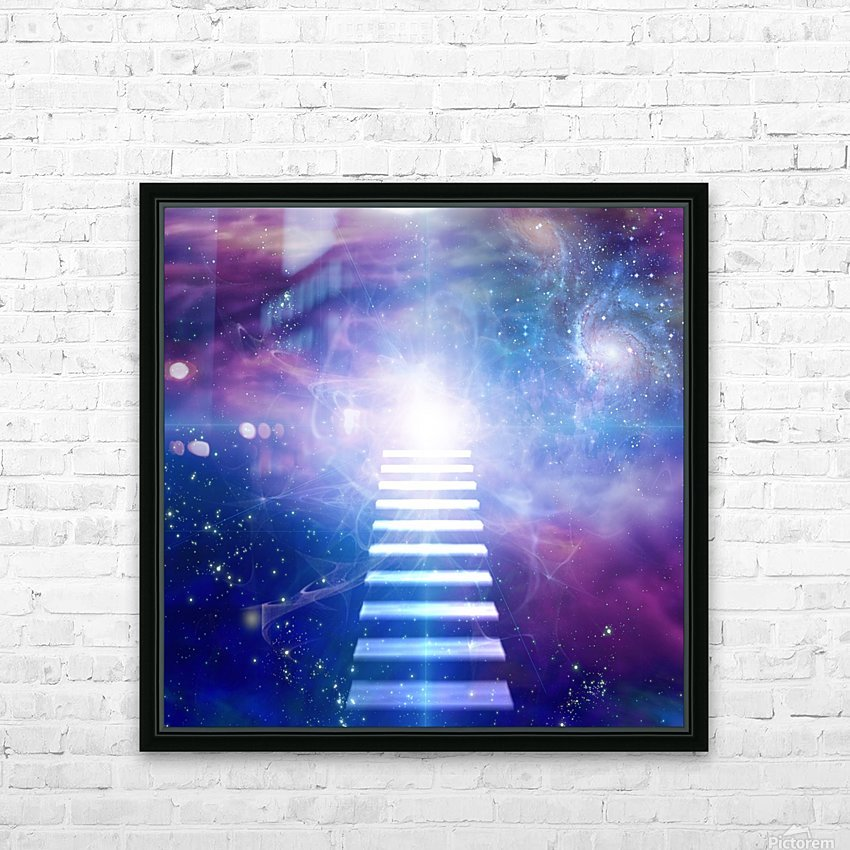Steps up into cosmos HD Sublimation Metal print with Decorating Float Frame (BOX)
