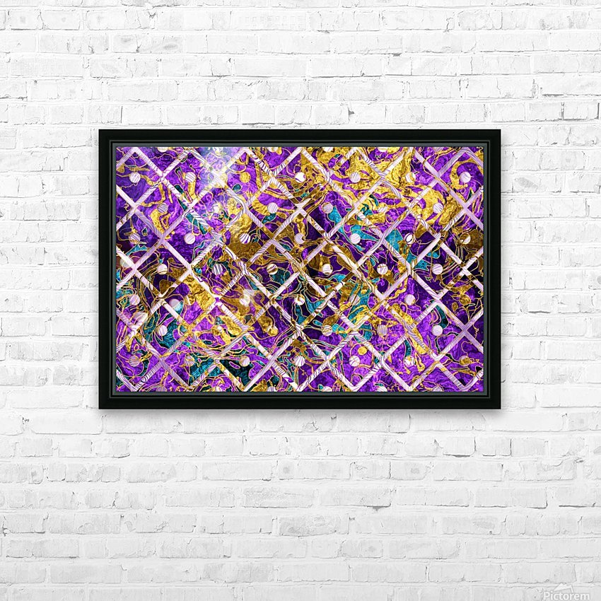 Pattern LXXXII HD Sublimation Metal print with Decorating Float Frame (BOX)