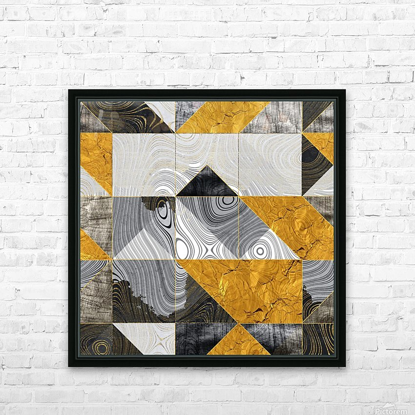 Geometric XXIII HD Sublimation Metal print with Decorating Float Frame (BOX)
