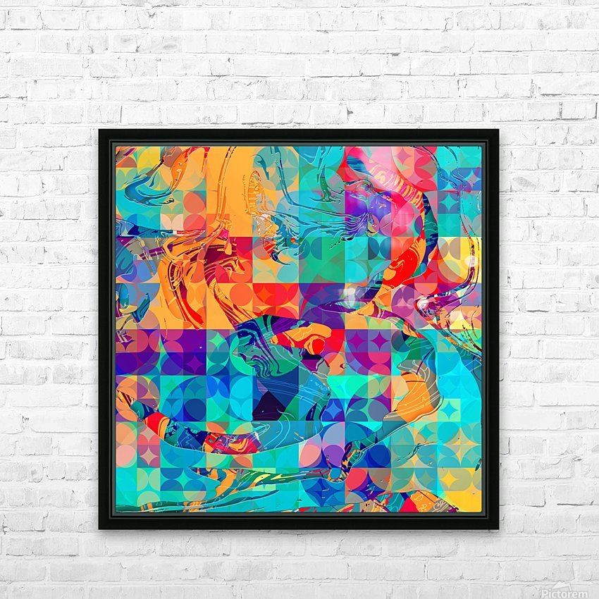 Geometric X HD Sublimation Metal print with Decorating Float Frame (BOX)