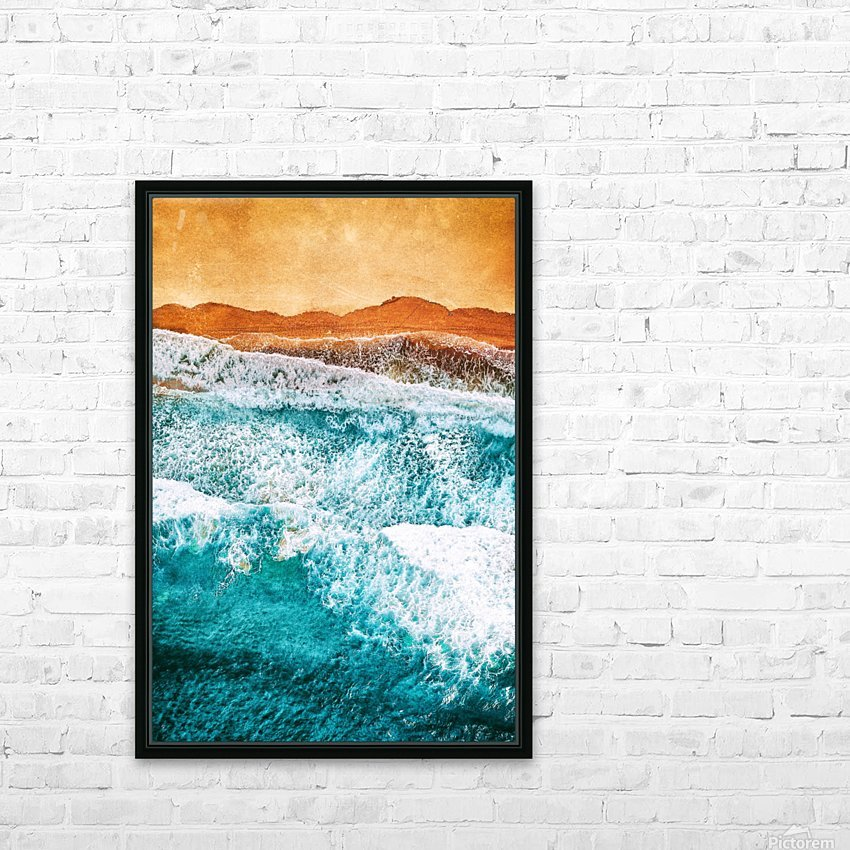 Tropical VI - Beach Waves II  HD Sublimation Metal print with Decorating Float Frame (BOX)
