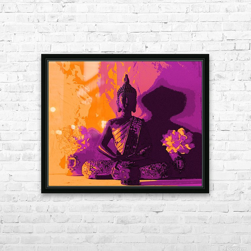 Buddha Altar -- Sunset Colors HD Sublimation Metal print with Decorating Float Frame (BOX)