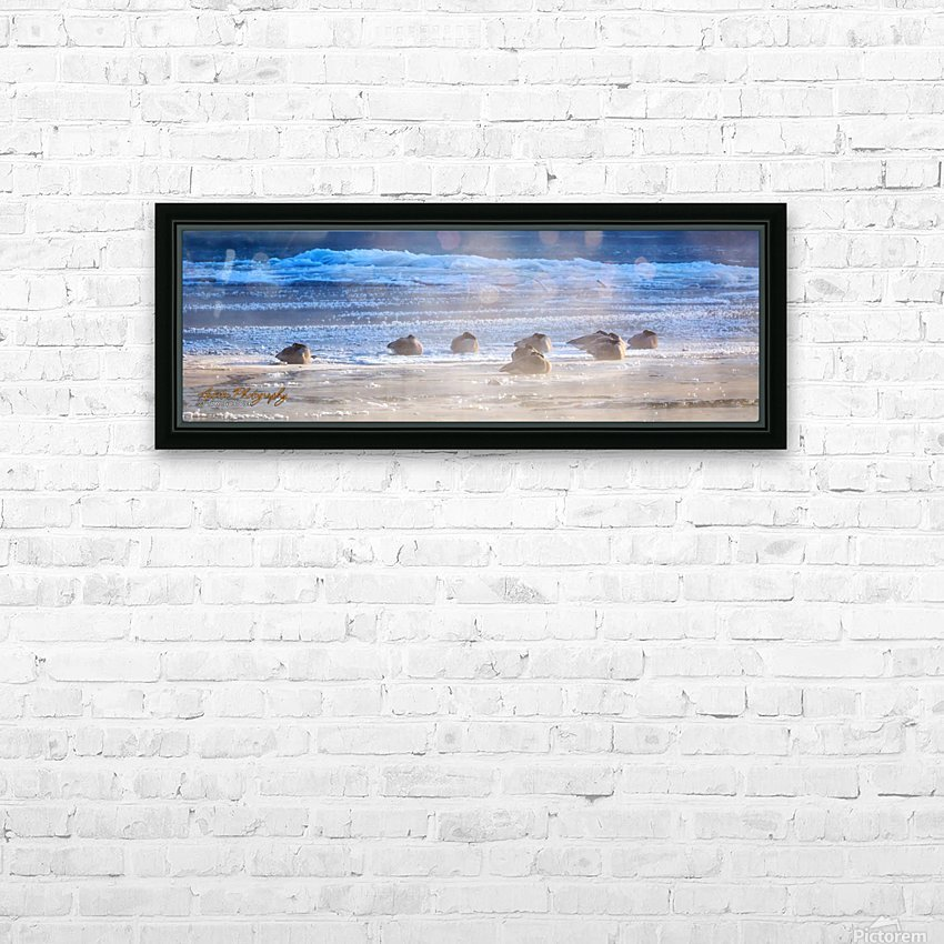 Canada Geese - APC-206 HD Sublimation Metal print with Decorating Float Frame (BOX)