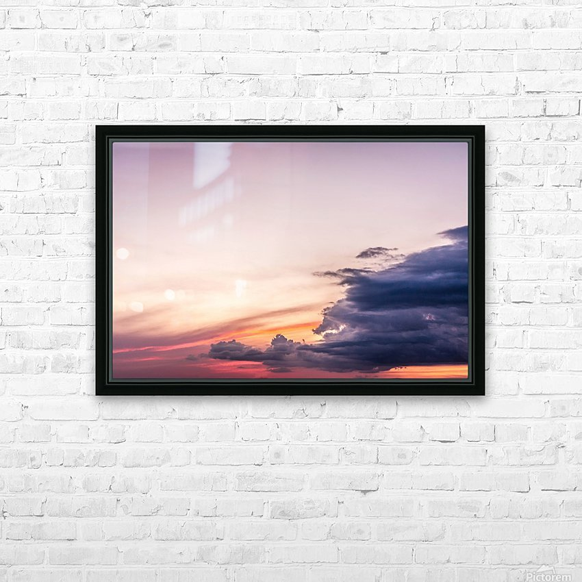 Summer Sunset HD Sublimation Metal print with Decorating Float Frame (BOX)