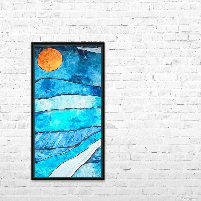 Blue Sunrise HD Sublimation Metal print with Decorating Float Frame (BOX)