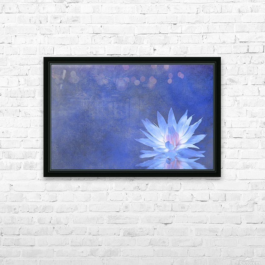 Lotus Blossom HD Sublimation Metal print with Decorating Float Frame (BOX)