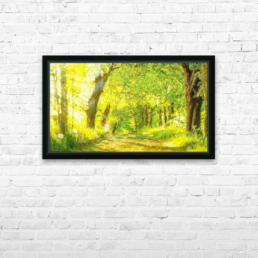 Walk in the Woods HD Sublimation Metal print with Decorating Float Frame (BOX)
