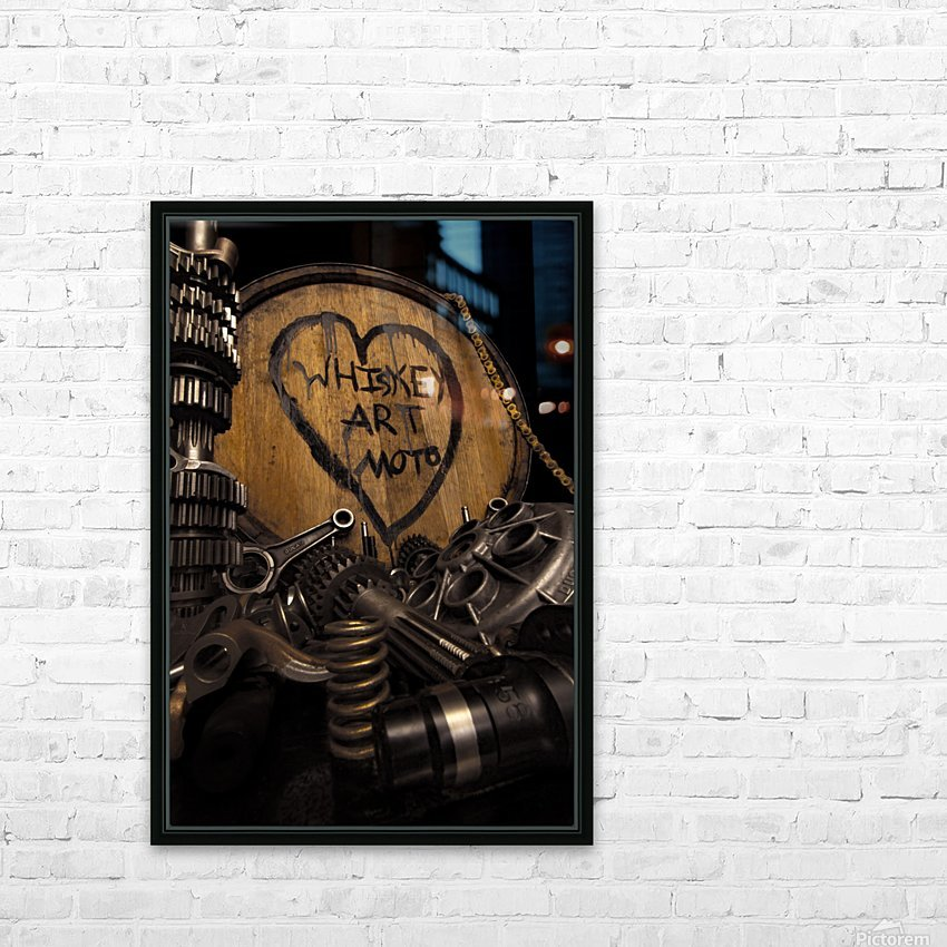 Whiskey Art Moto HD Sublimation Metal print with Decorating Float Frame (BOX)