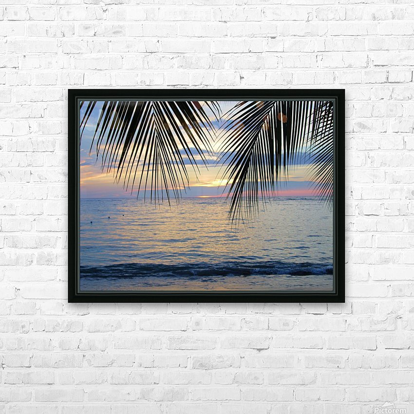 Tropical Sunset 4 HD Sublimation Metal print with Decorating Float Frame (BOX)