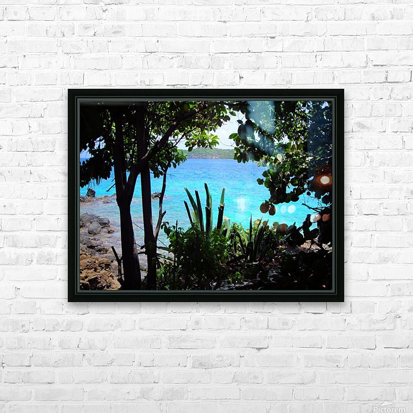 Tropical Waters 1 HD Sublimation Metal print with Decorating Float Frame (BOX)
