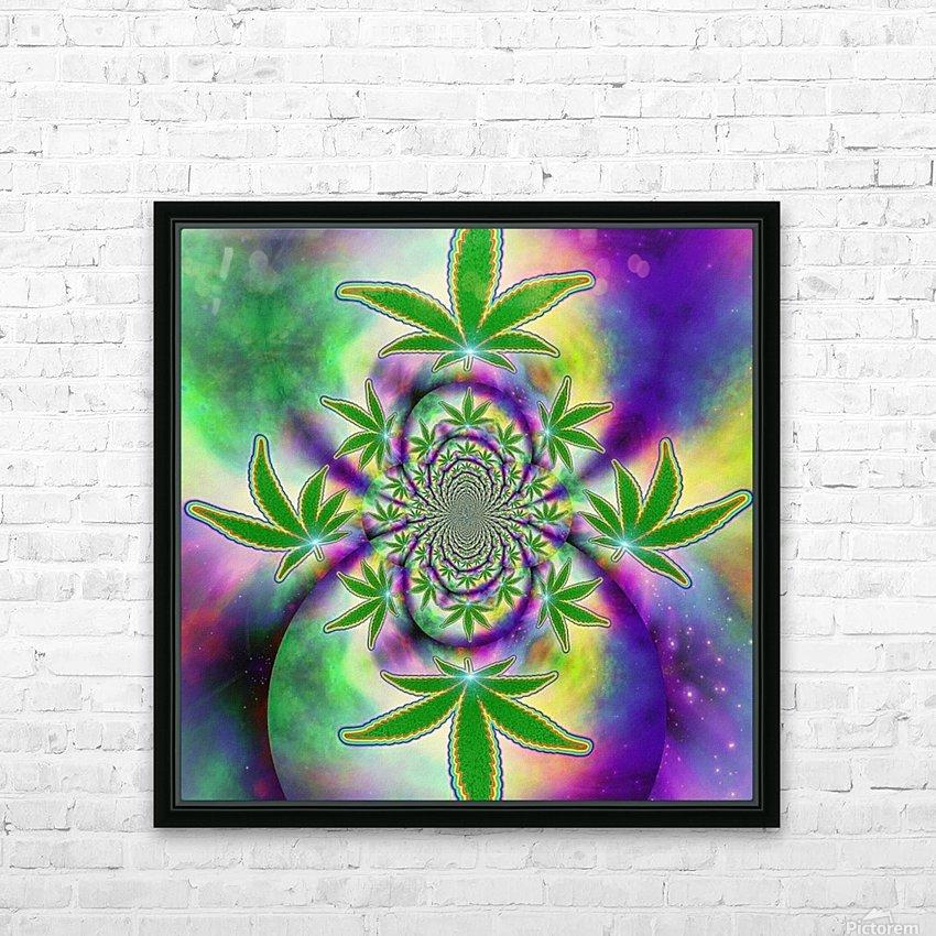 Marijuana Leaf HD Sublimation Metal print with Decorating Float Frame (BOX)