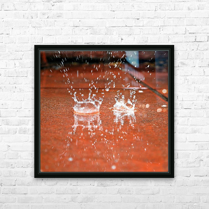 Rain HD Sublimation Metal print with Decorating Float Frame (BOX)