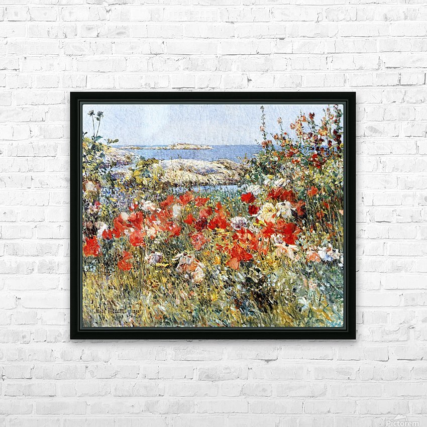 Flower Garden, Isles of Shoals HD Sublimation Metal print with Decorating Float Frame (BOX)