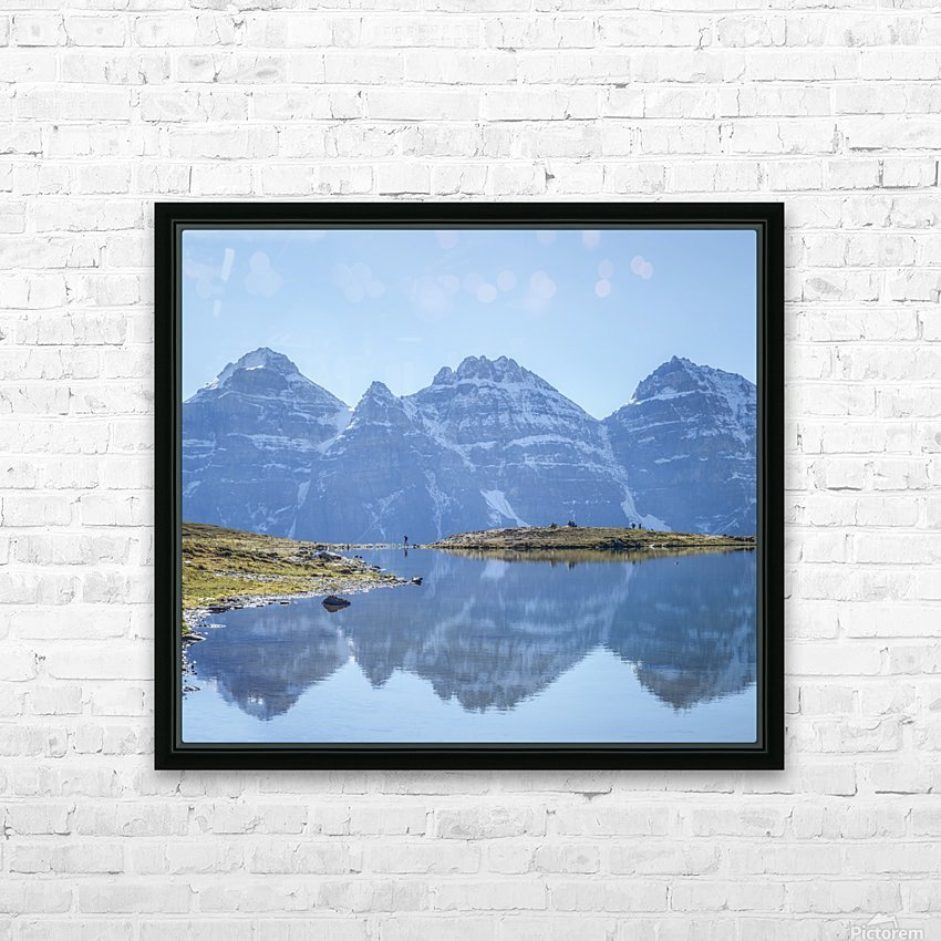 Mountain diaries HD Sublimation Metal print with Decorating Float Frame (BOX)