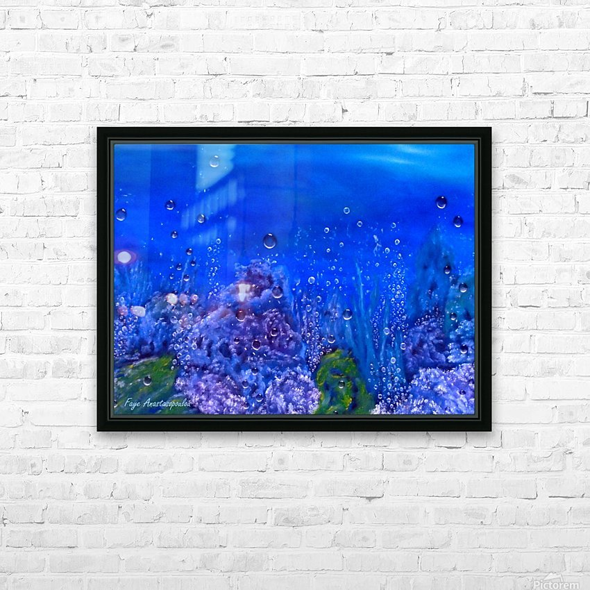 Coral Reef HD Sublimation Metal print with Decorating Float Frame (BOX)