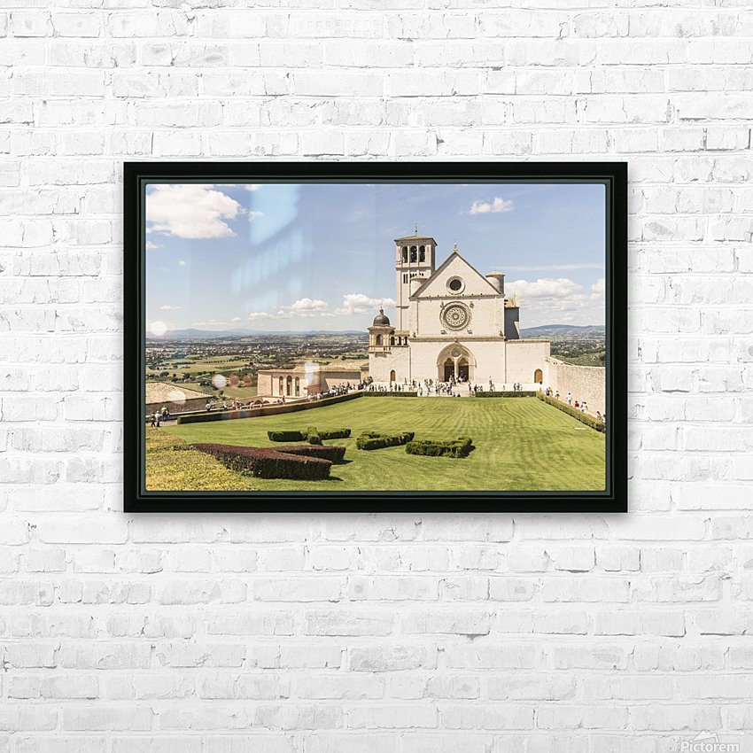 Assisi church HD Sublimation Metal print with Decorating Float Frame (BOX)