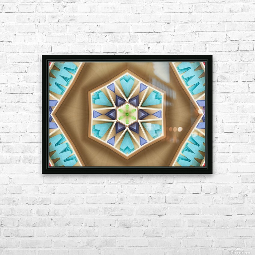 Pattern design HD Sublimation Metal print with Decorating Float Frame (BOX)