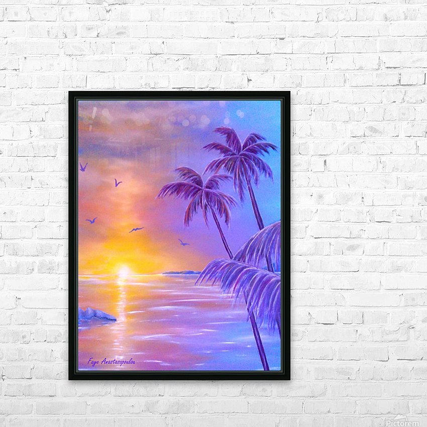 Tropical Breeze HD Sublimation Metal print with Decorating Float Frame (BOX)