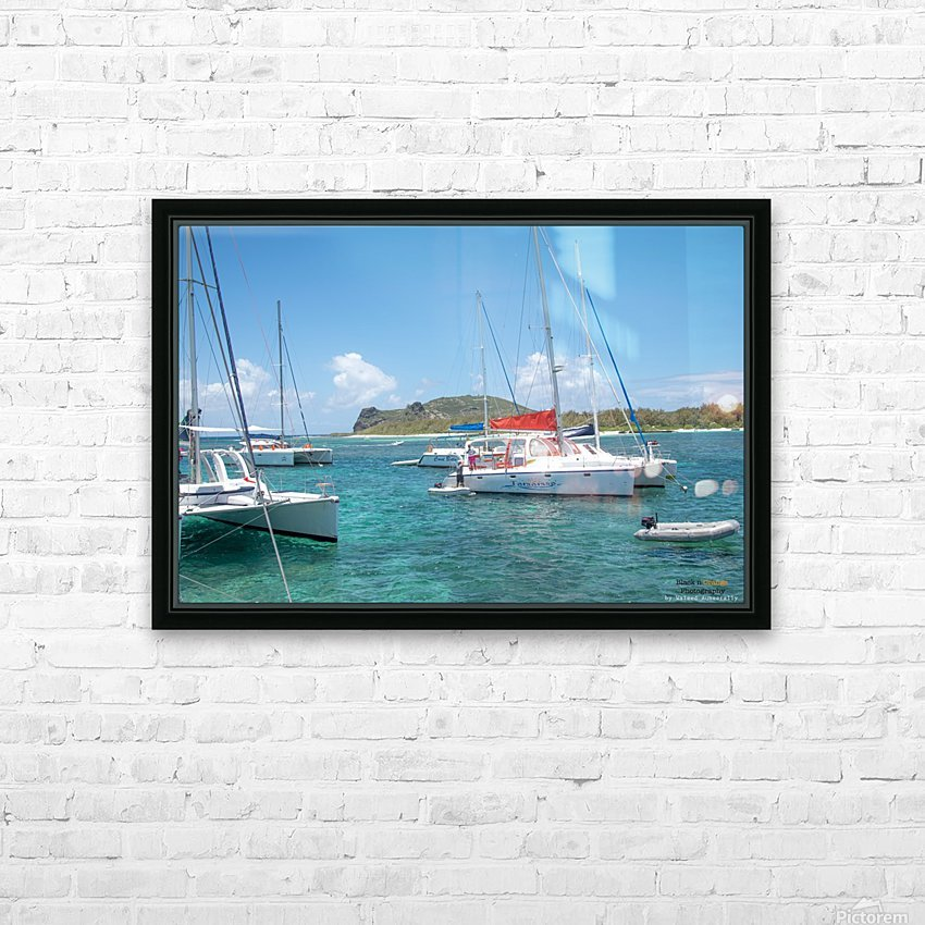 1 66 HD Sublimation Metal print with Decorating Float Frame (BOX)