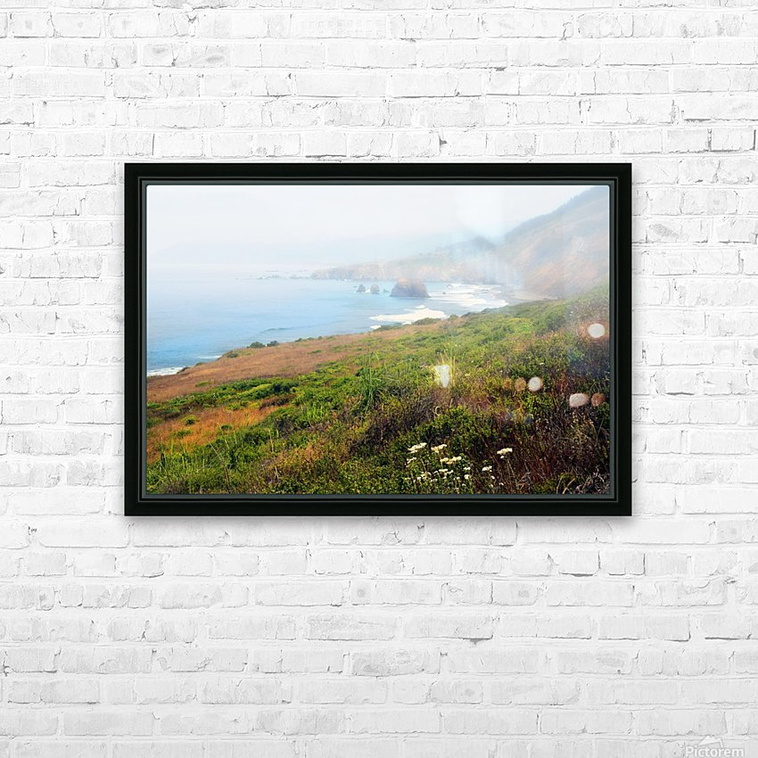 Coastal Views Fog HD Sublimation Metal print with Decorating Float Frame (BOX)