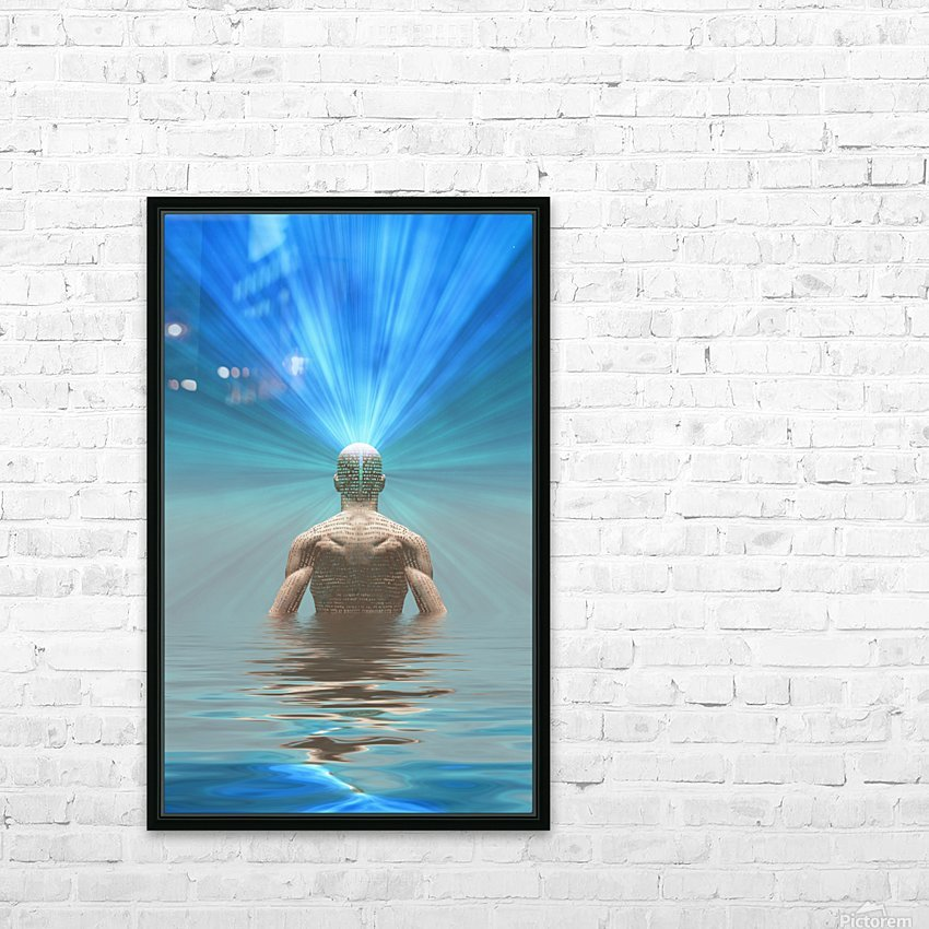 Power of Mind HD Sublimation Metal print with Decorating Float Frame (BOX)