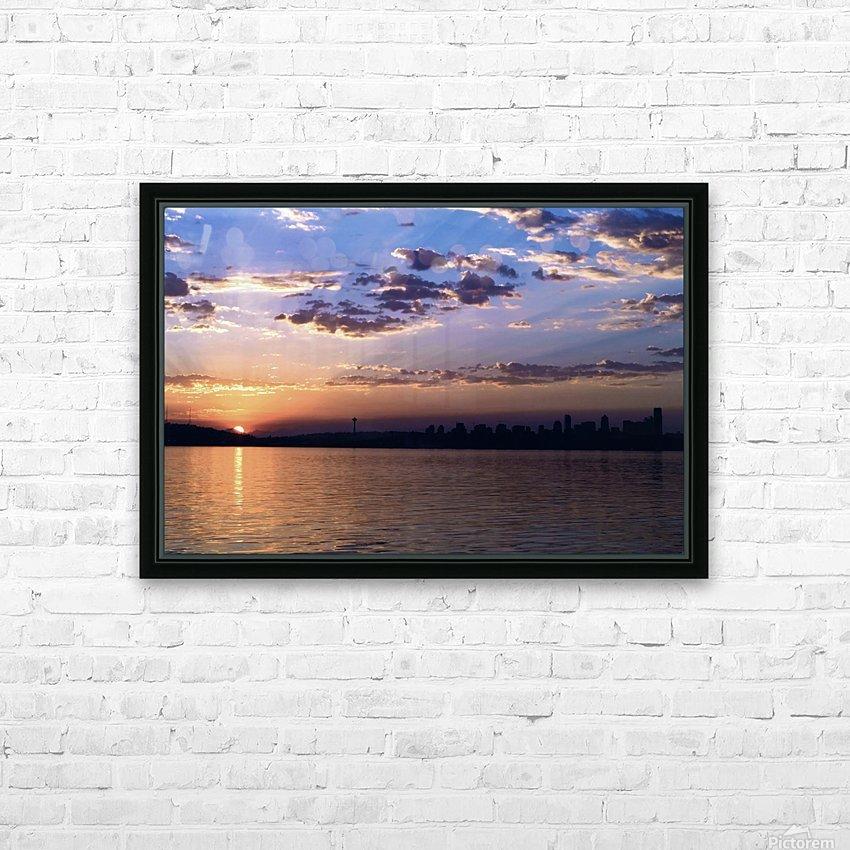 Puget Sound Sunrise HD Sublimation Metal print with Decorating Float Frame (BOX)