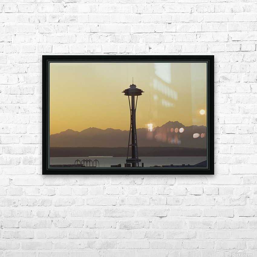 needle HD Sublimation Metal print with Decorating Float Frame (BOX)