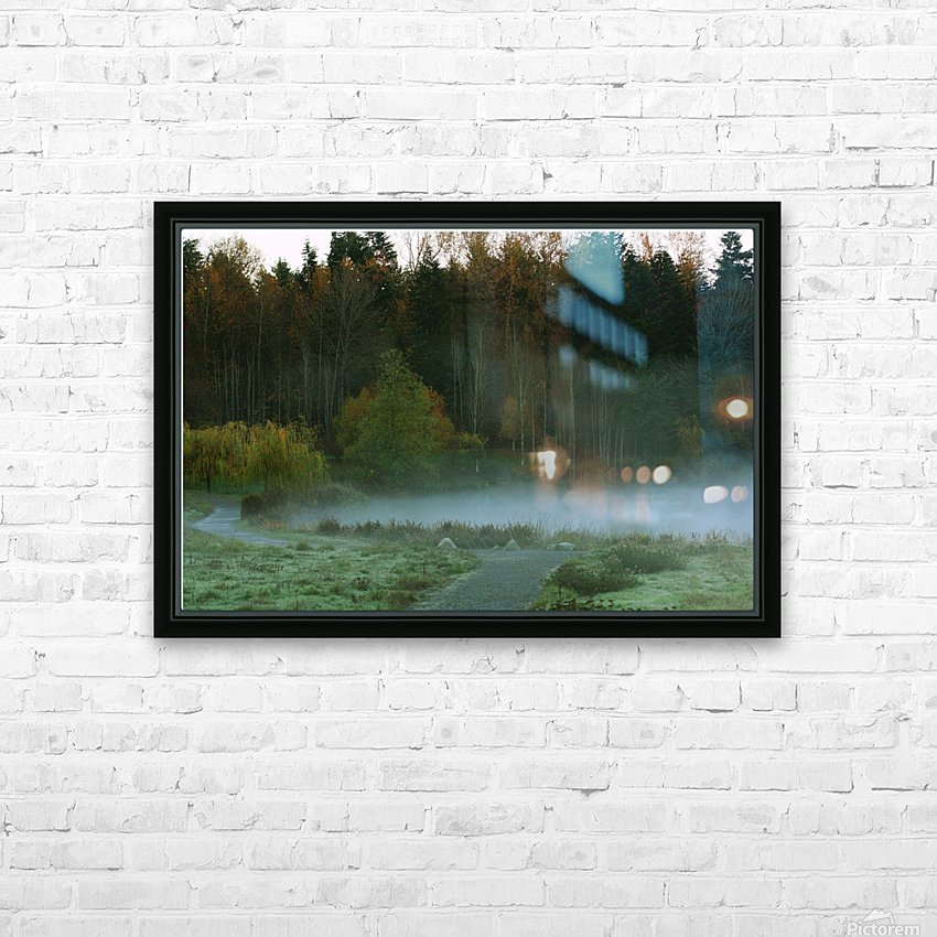 Weyerhaeuser morning HD Sublimation Metal print with Decorating Float Frame (BOX)