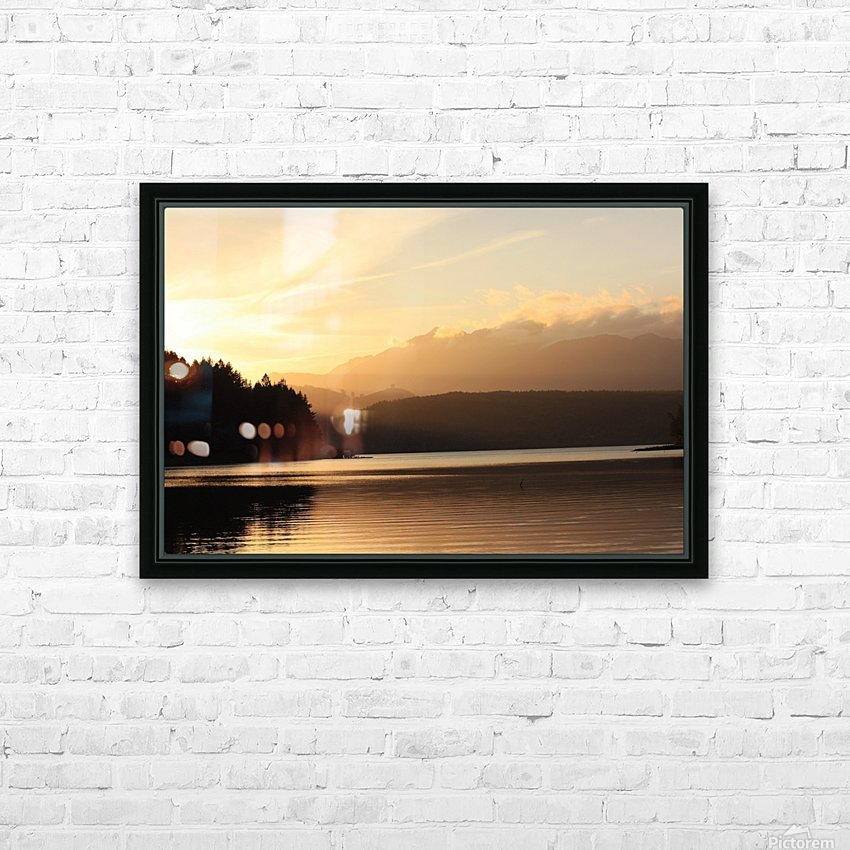 Dewatto glow HD Sublimation Metal print with Decorating Float Frame (BOX)