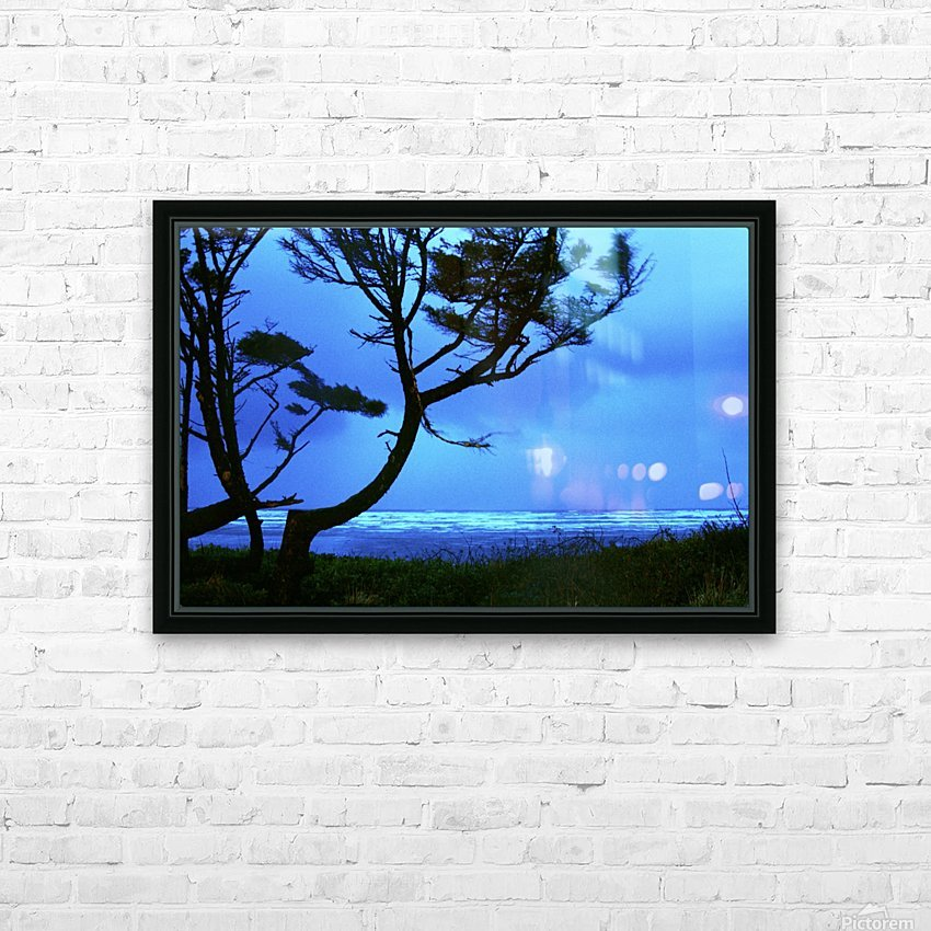 Long Exposure Night Coast HD Sublimation Metal print with Decorating Float Frame (BOX)