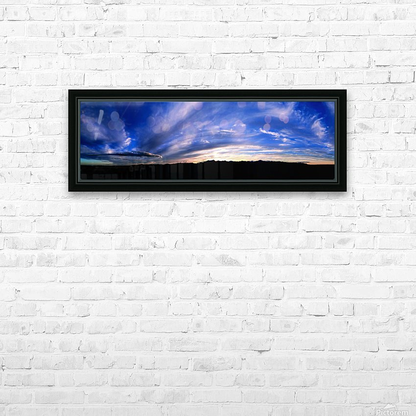 Western Sky Pano HD Sublimation Metal print with Decorating Float Frame (BOX)