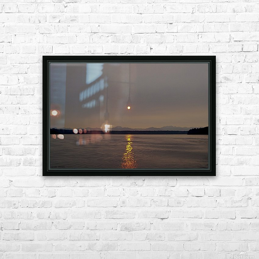 Setting Orb in view HD Sublimation Metal print with Decorating Float Frame (BOX)