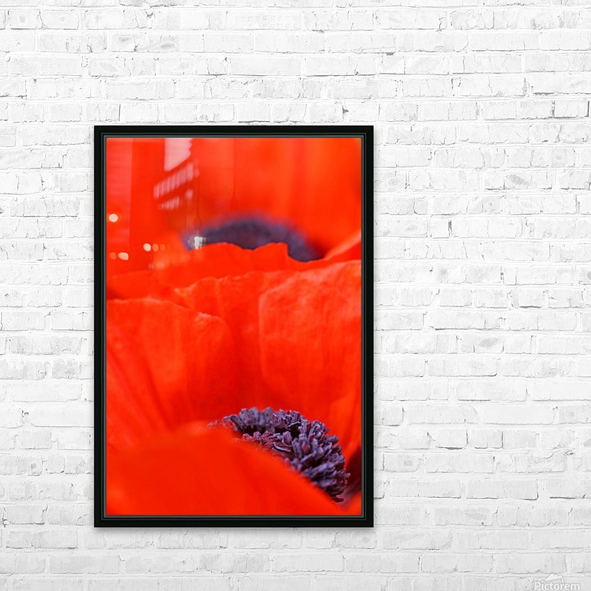 Poppy Heart I HD Sublimation Metal print with Decorating Float Frame (BOX)
