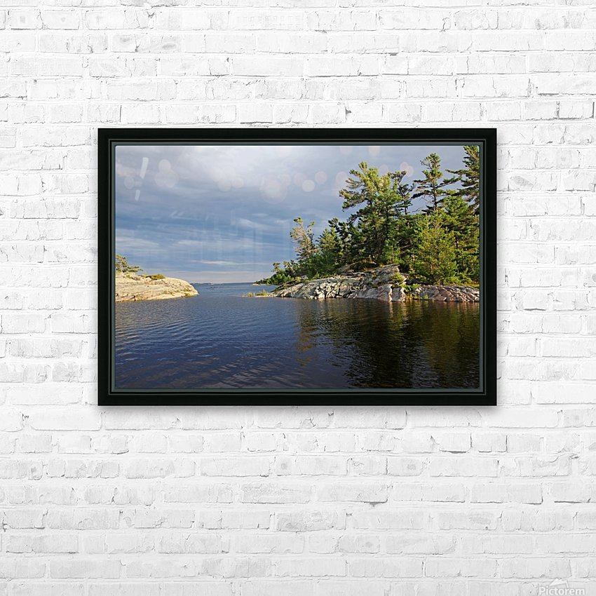 Between Rocky Outcrops To Georgian Bay HD Sublimation Metal print with Decorating Float Frame (BOX)