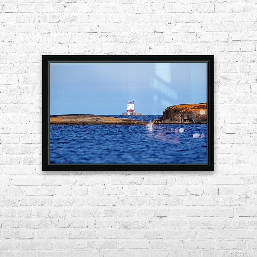Red Rock Lighthouse Georgian Bay HD Sublimation Metal print with Decorating Float Frame (BOX)