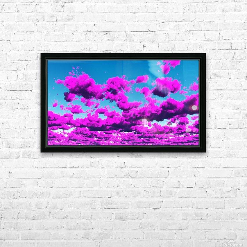 Vivid Purple Cloudscape HD Sublimation Metal print with Decorating Float Frame (BOX)