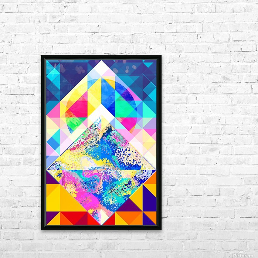 Geometric XXX HD Sublimation Metal print with Decorating Float Frame (BOX)