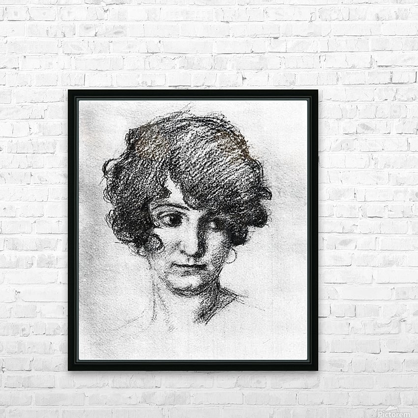 Head of the daughter of the artist, Lorli  by Albin Egger-Lienz HD Sublimation Metal print with Decorating Float Frame (BOX)