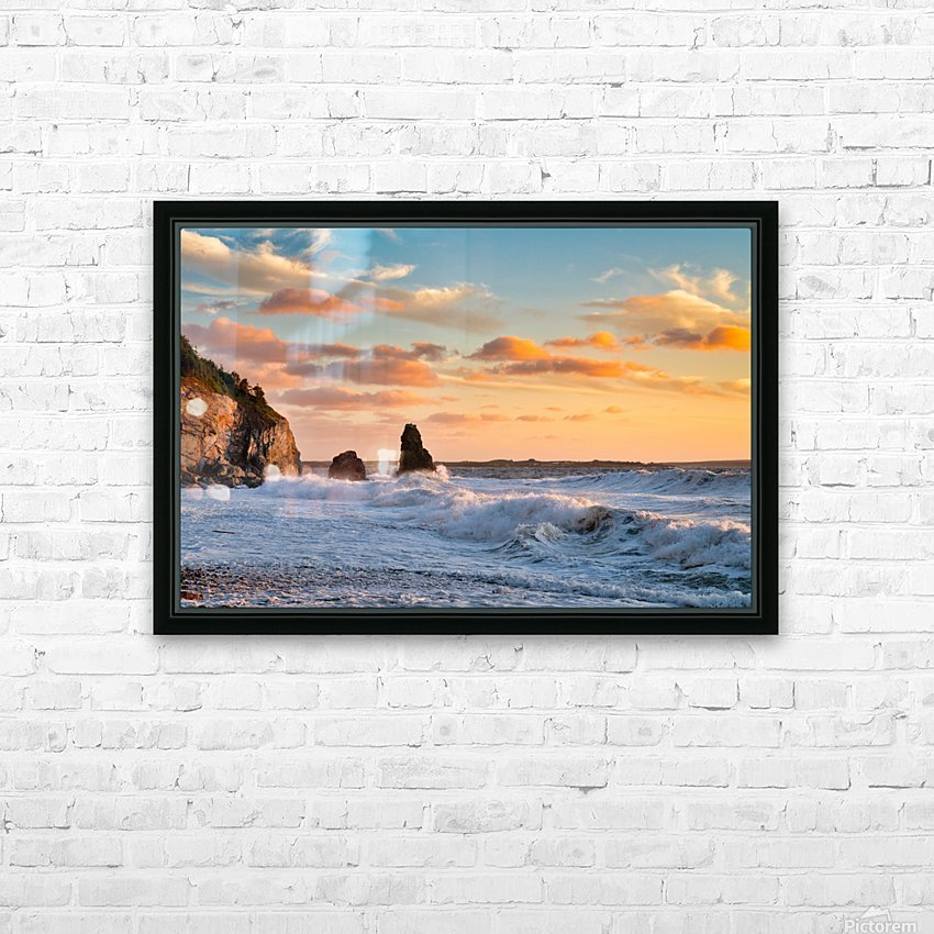 Tangerine Skies HD Sublimation Metal print with Decorating Float Frame (BOX)
