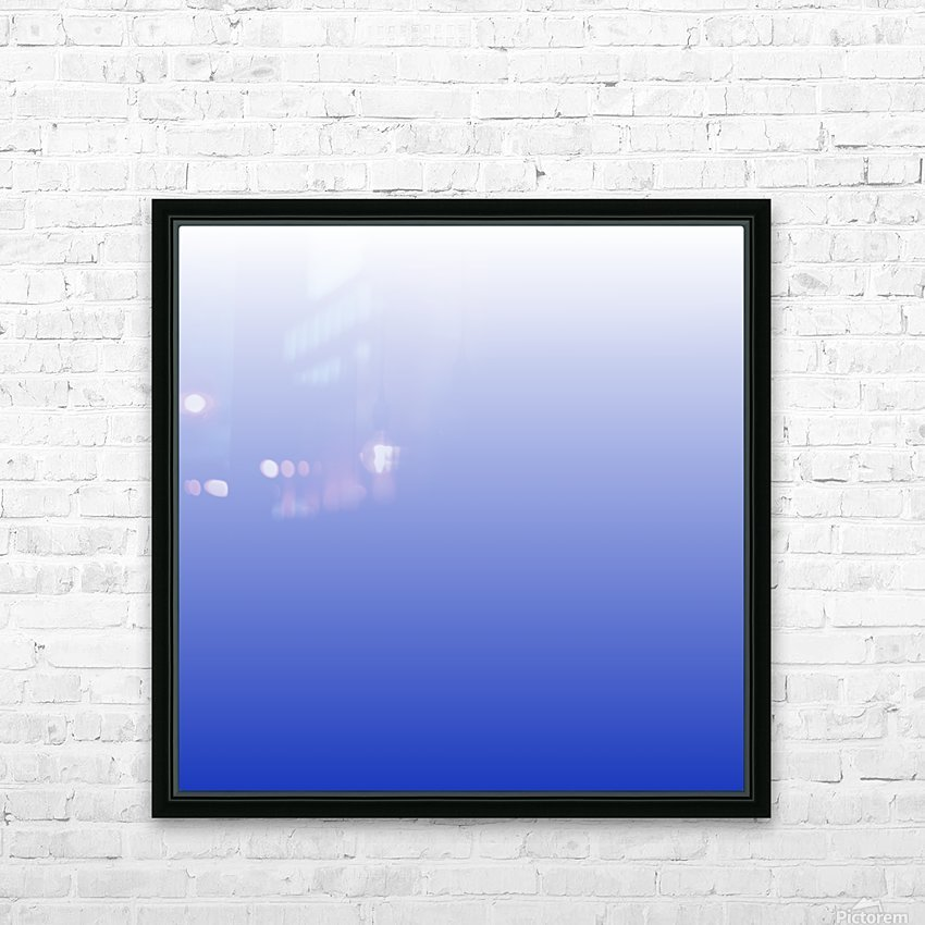 Vishuddha Chakra Blue Ombré  HD Sublimation Metal print with Decorating Float Frame (BOX)