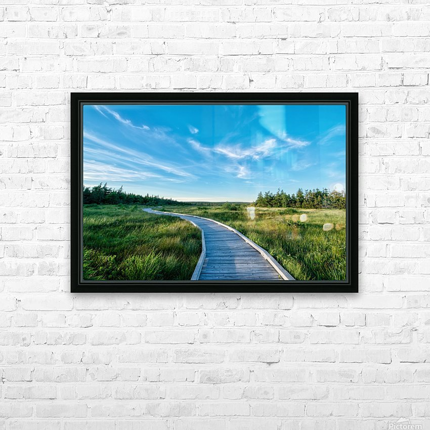 A walk at the Bog HD Sublimation Metal print with Decorating Float Frame (BOX)