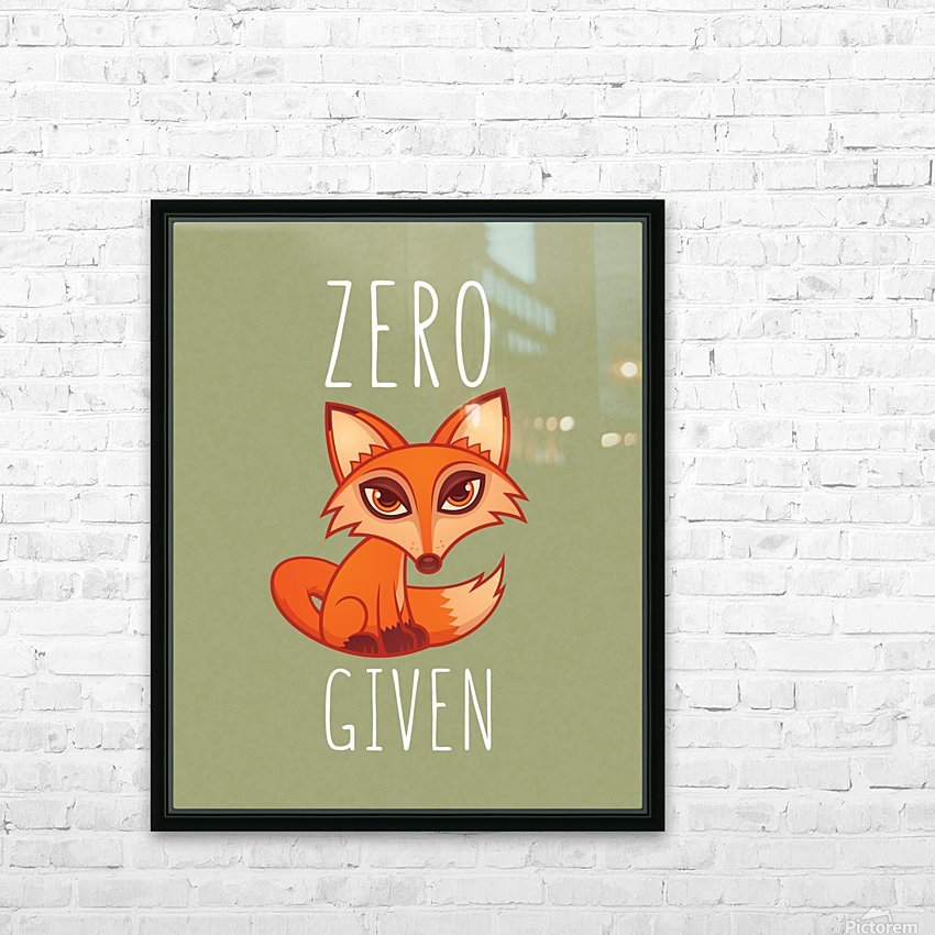 Zero Fox Given HD Sublimation Metal print with Decorating Float Frame (BOX)
