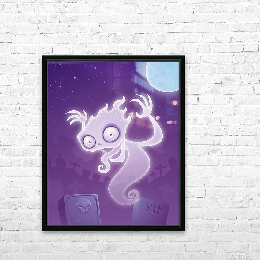 Ghost in the Graveyard HD Sublimation Metal print with Decorating Float Frame (BOX)