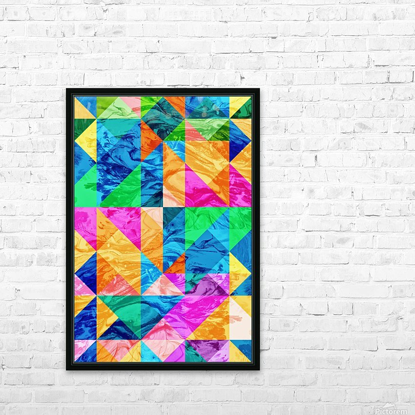 Geometric XXIX HD Sublimation Metal print with Decorating Float Frame (BOX)